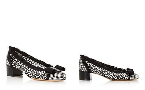 Salvatore Ferragamo Women's Vara Woven Leather Pumps - Bloomingdale's_2